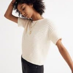 Madewell Lace-Back Sweater Tee - NWOT